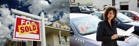 Home and auto sales; title=